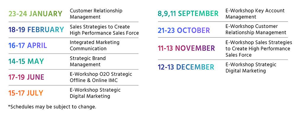 Schedule Workshop 2020